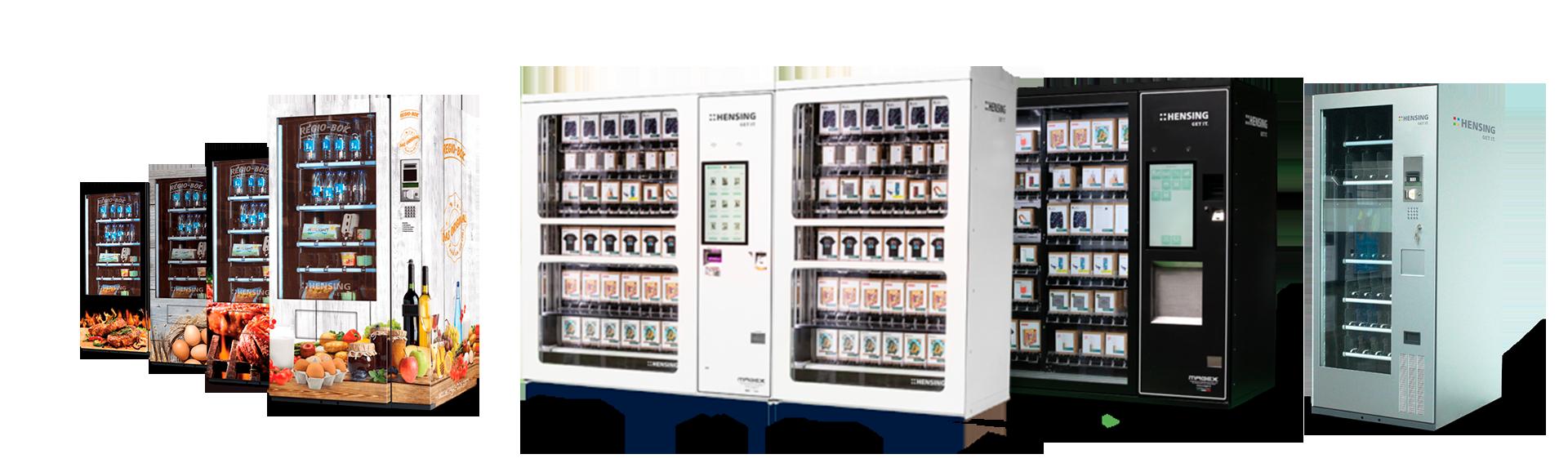 Collage Waren- und Verkaufsautomaten mit Regio-Box