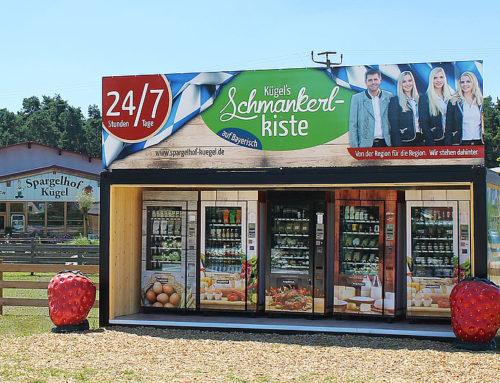 """Automatenshop """"Kügel's Schmankerlkiste"""" bietet Spargel, Beeren und Co. rund um dieUhr"""
