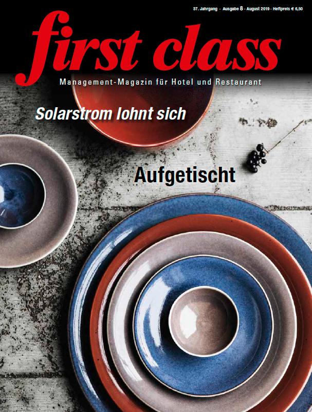 Titelblatt First Class Magazin