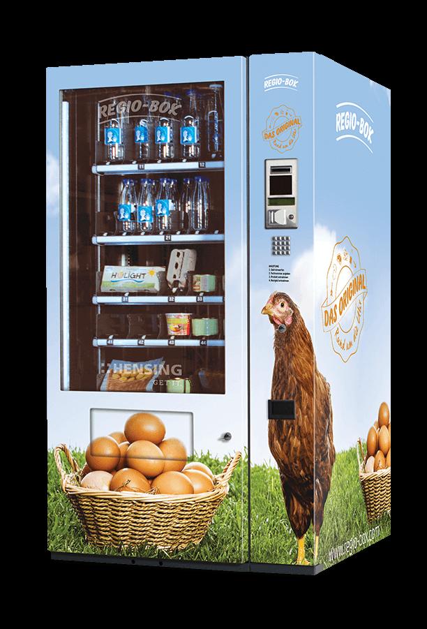 Regio-Box im Eier Design mit Huhn